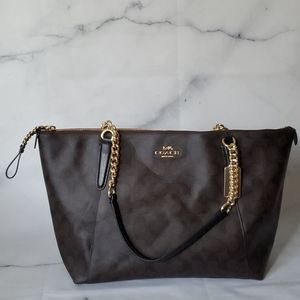 NWT Coach Ava Chain Tote in Signature Canvas